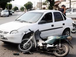 Choque Corsa Blanco con Moto